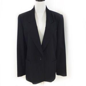 Vintage Oleg Cassini black wool blazer XL